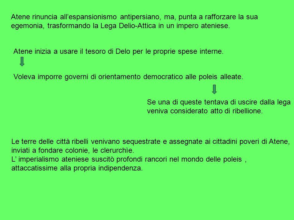 Le riforme di Pericle: 1- indebolimento dell'aeropago; 2- indennità giornaliera in denaro per chi veniva sorteggiato.