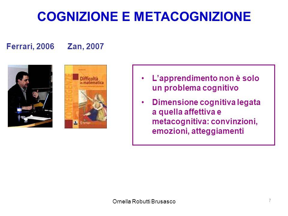 Ornella Robutti Brusasco 8 Le capacità richieste dal mondo del lavoro: 1.routinarie-manuali 2.non routinarie-manuali 3.routinarie-cognitive 4.non routinarie-analitiche 5.non routinarie-interattive Andreas Schleicher responsabile della Divisione per gli Indicatori e l'Analisi dei test OCSE-PISA I° Forum mondiale sull'apprendimento e le tecnologie, Londra, 12-14 gennaio 2009  Insegnamento e apprendimento: nuove sfide nel 21° secolo