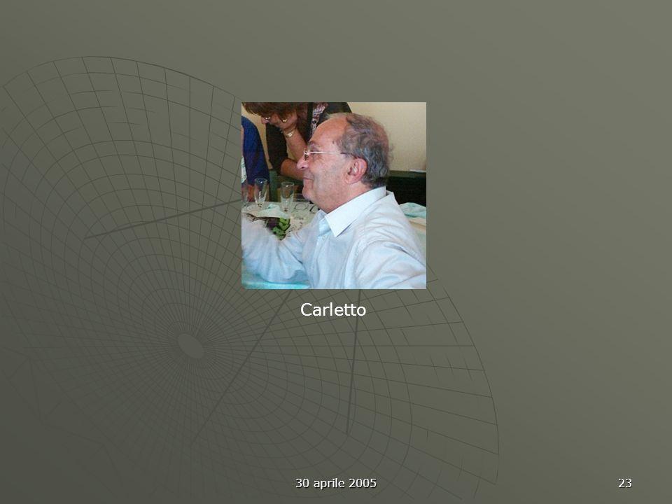 30 aprile 2005 24 Ennio Giancarlo U Sandro Lucia