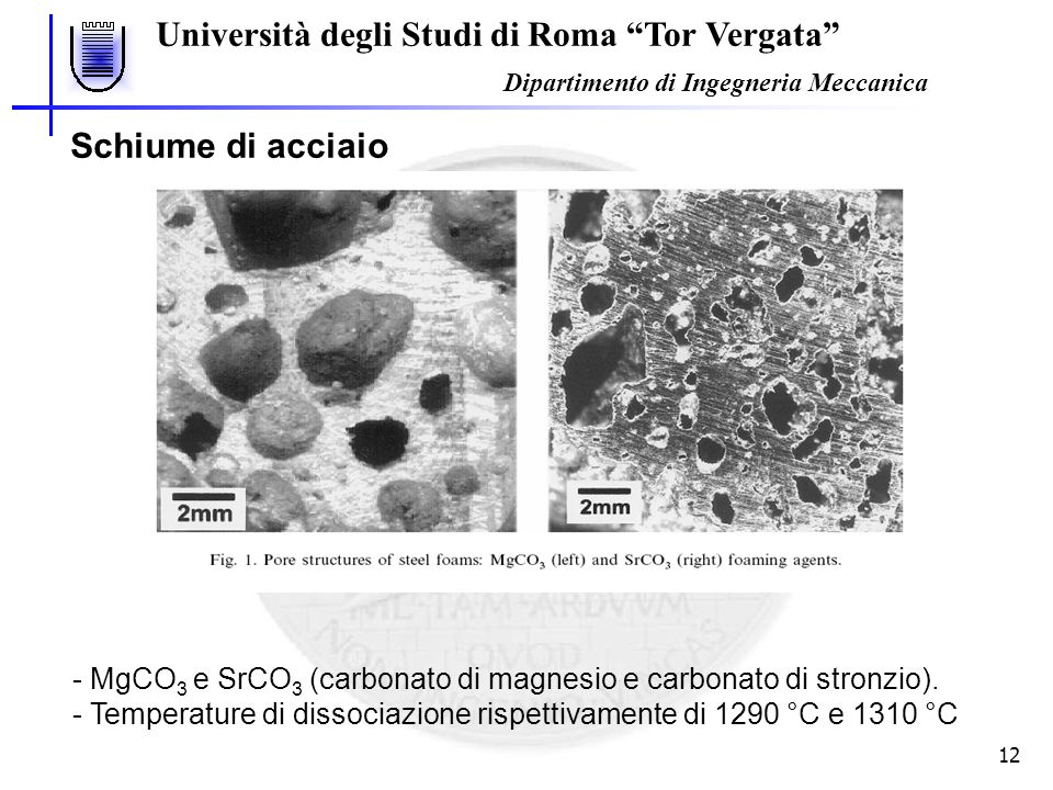 Università degli Studi di Roma Tor Vergata Dipartimento di Ingegneria Meccanica 13 A.