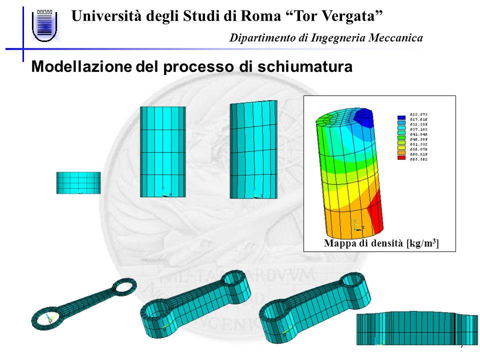 Università degli Studi di Roma Tor Vergata Dipartimento di Ingegneria Meccanica 8 Problematiche per la schiumatura di un oggetto complesso