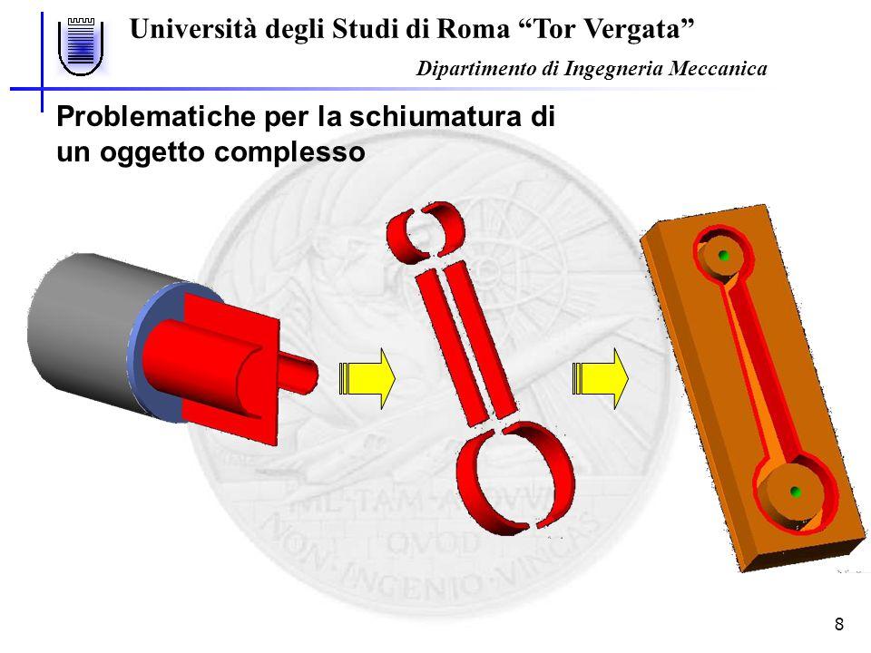 Università degli Studi di Roma Tor Vergata Dipartimento di Ingegneria Meccanica 9 Rete neurale MLP Sistema di elaborazione costituito da elementi interconnessi (neuroni) che elaborano le informazioni modificando la risposta dinamica in seguito ad input esterni.