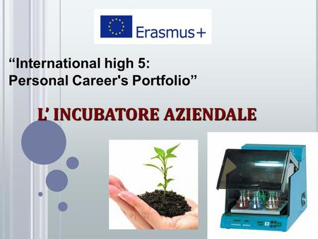 """International high 5: Personal Career's Portfolio"" L' INCUBATORE AZIENDALE."