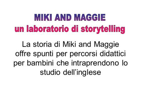 un laboratorio di storytelling