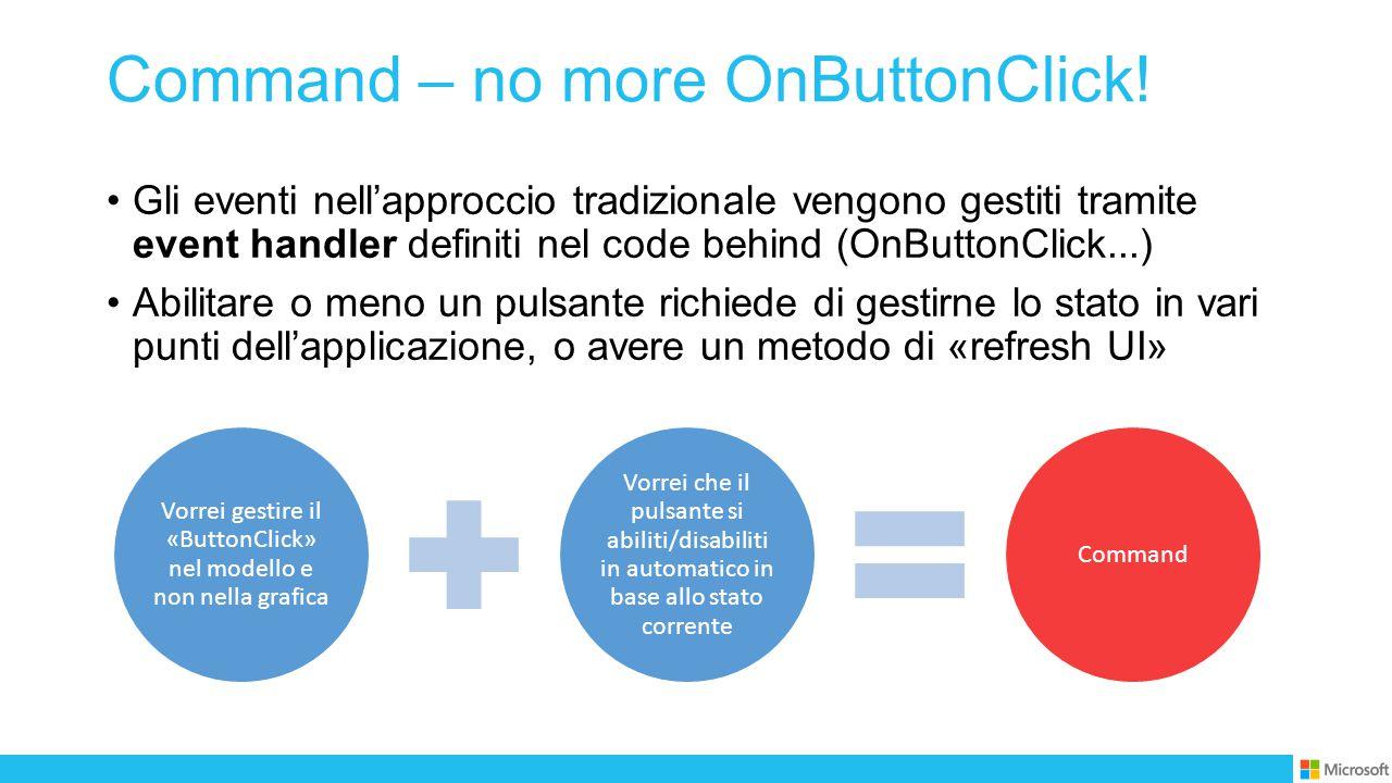 Command – no more OnButtonClick.