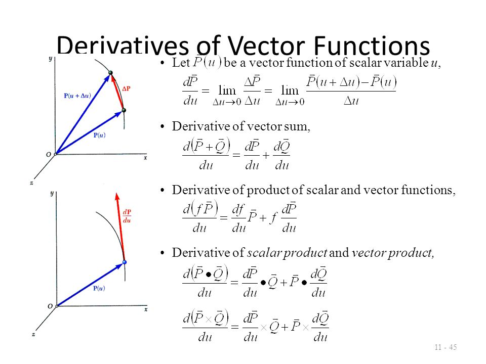 Rectangular Components of Velocity & Acceleration 11 - 46 When position vector of particle P is given by its rectangular components, Velocity vector, Acceleration vector,
