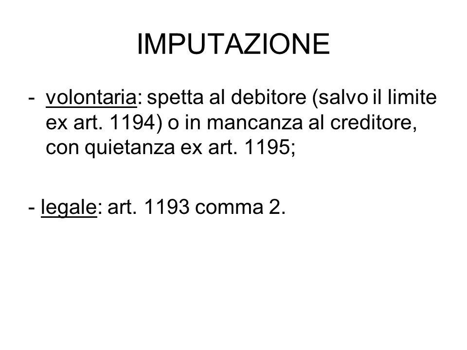 QUIETANZA: art.1199 c.c.