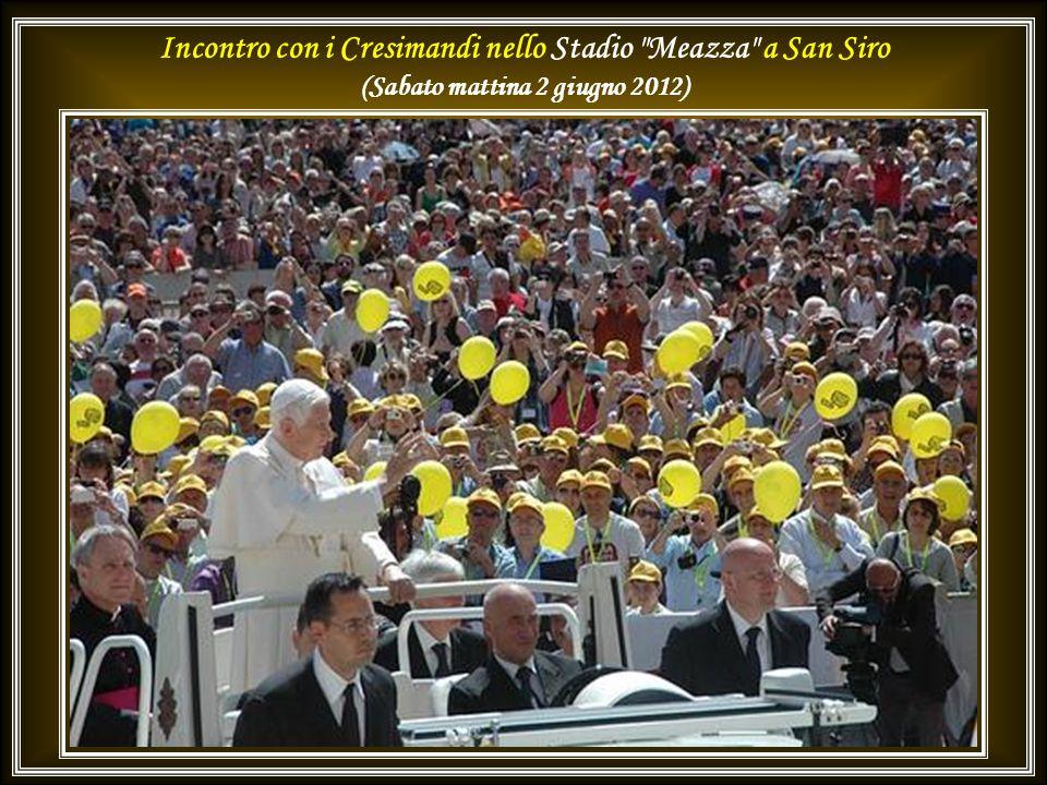 Incontro con i Cresimandi nello Stadio Meazza a San Siro (Sabato mattina 2 giugno 2012)