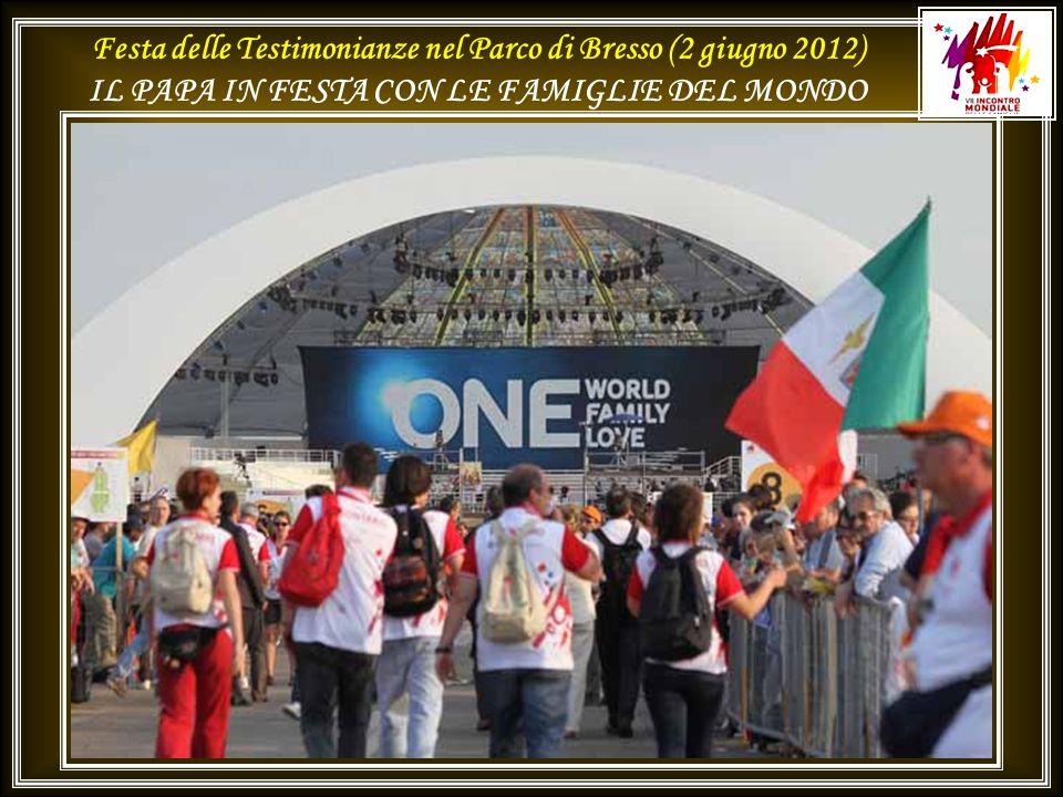 Festa delle Testimonianze nel Parco di Bresso (2 giugno 2012) IL PAPA IN FESTA CON LE FAMIGLIE DEL MONDO