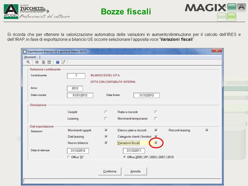Il collegamento ai fogli fiscali si basa su voci logiche collegate ai sottoconti contabili, utilizzando la terza pagina Codifiche per trasferimento dati nella gestione del piano dei conti di Magix.