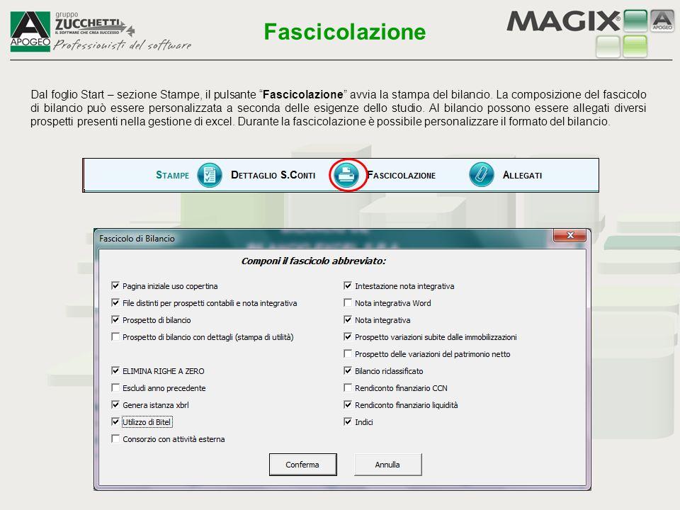 Il primo documento che viene prodotto è il file XBRL per l'invio telematico del bilancio Fascicolazione