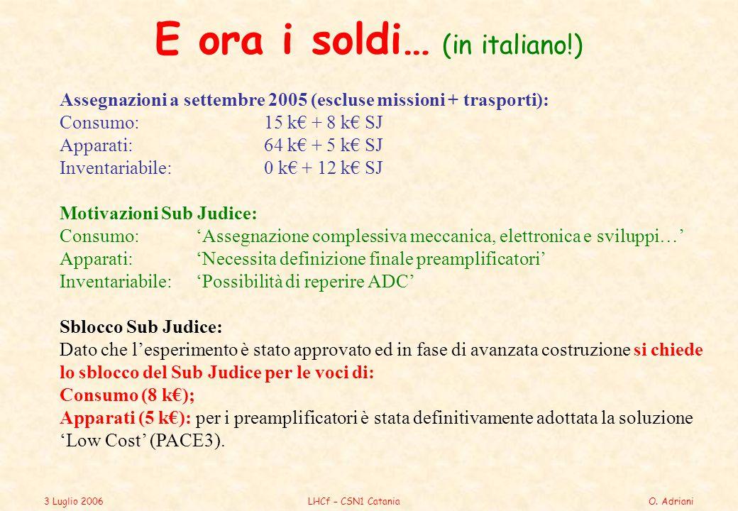 3 Luglio 2006LHCf – CSN1 CataniaO.