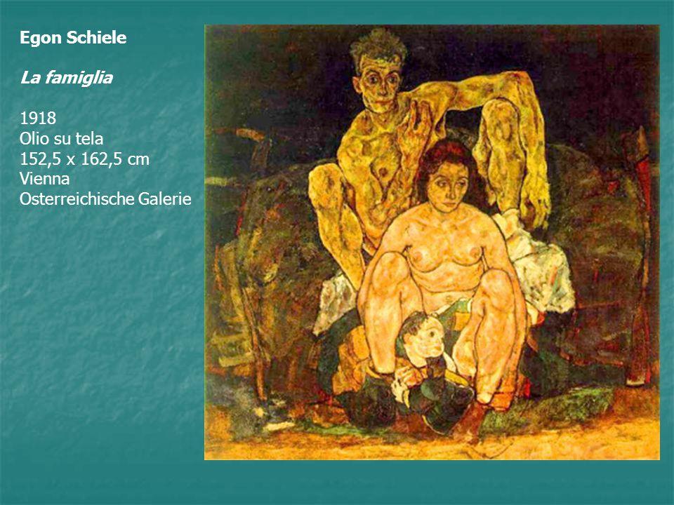 In questo quadro Schiele rappresenta se stesso con la moglie seduta più in basso compresa fra a le sue gambe, questa, a sua volta, tiene tra le gambe un bambino come se lo avesse appena partorito.