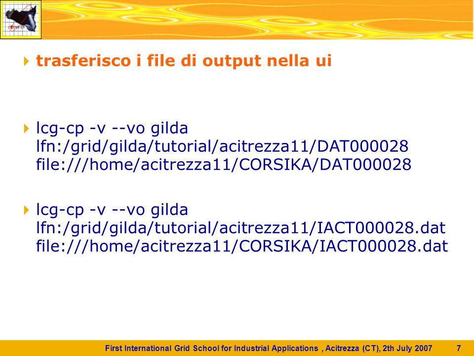 First International Grid School for Industrial Applications, Acitrezza (CT), 2th July 2007 8  portale Grid GENIUS