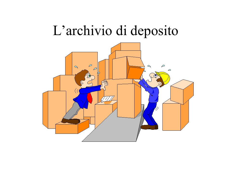 L'archivio di deposito
