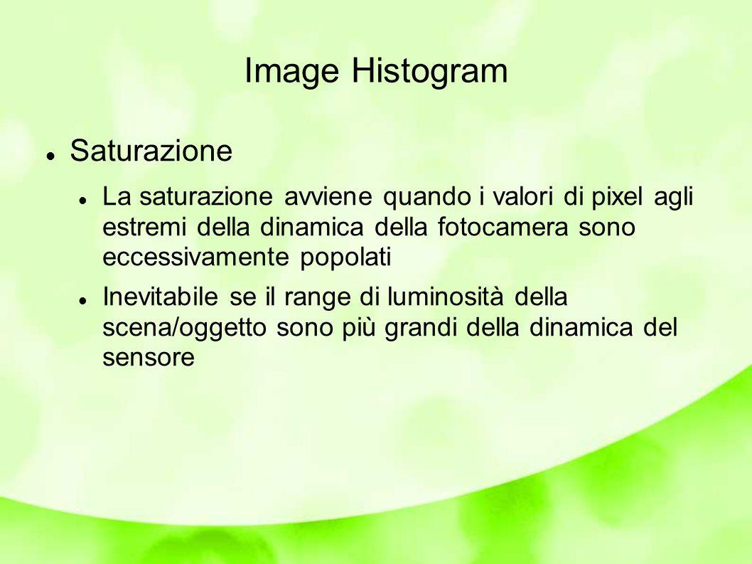 Image Histogram: alterazioni L istogramma è un metodo semplice per rivelare alterazioni dovute a processing Effetto dell espansione/riduzione del contrasto