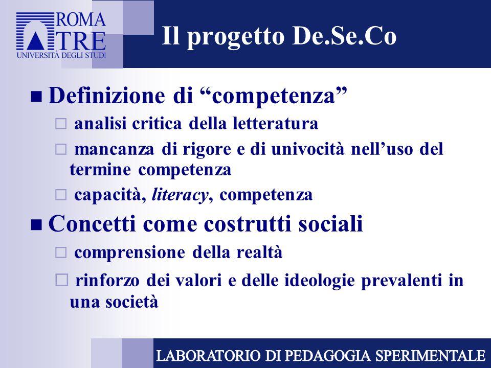 Approccio funzionale alle competenze  richieste complesse che provengono dall'ambiente sociale  prerequisiti psico-sociali  approccio on demand