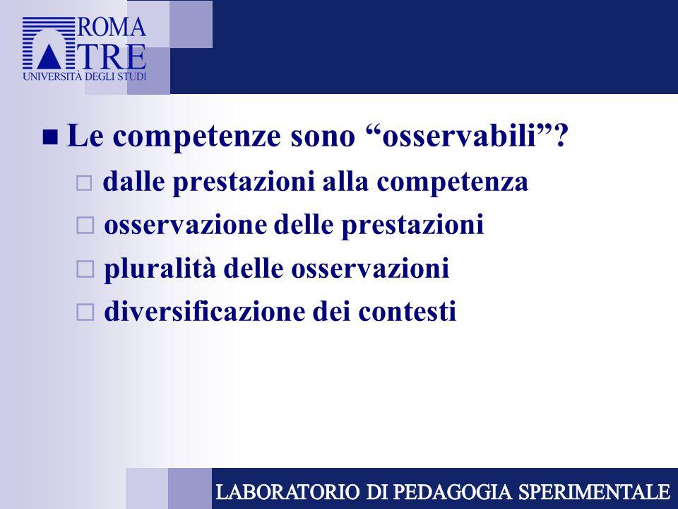 Livelli di competenza  è possibile individuare livelli di competenza .