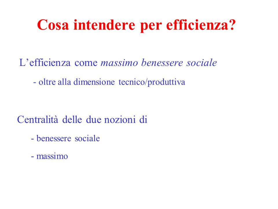 Cosa intendere per benessere sociale (1).
