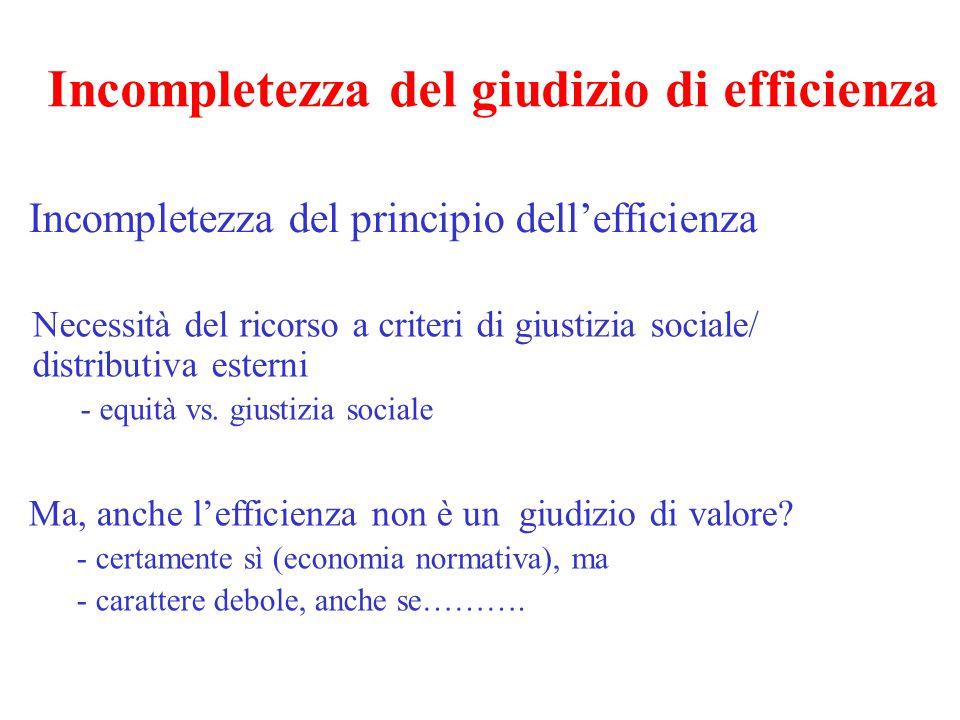 La giustizia sociale: il contributo dell'economia (1) Anche se l'economia può dire nulla, può tenere conto delle preferenze della collettività in materia di giustizia sociale In che modo.