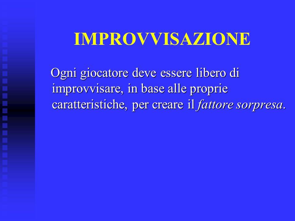 PRINCIPI E SVILUPPI DI GIOCO 1.1. MANTENIMENTO POSSESSO PALLA 2.