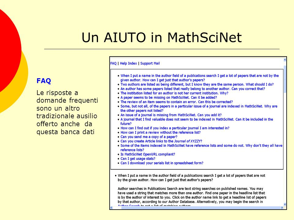 Italy Consortium for MathScinet http://www.math.unipd.it/~biblio/consorzio/licenza/consorzioMSN.html Dal 2000 si è costituito un consorzio italiano per l'acquisizione cooperativa di questa risorsa che ha visto nel tempo crescere il numero delle Istituzioni aderenti.