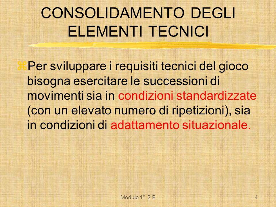 Modulo 1° 2 B5 PRESUPPOSTI CHE DETERMINANO LE CAPACITA DI GIOCO Requisiti Psichici Requisiti Tecnici Requisiti Tattici Requisiti Coordinativi e Condizionali