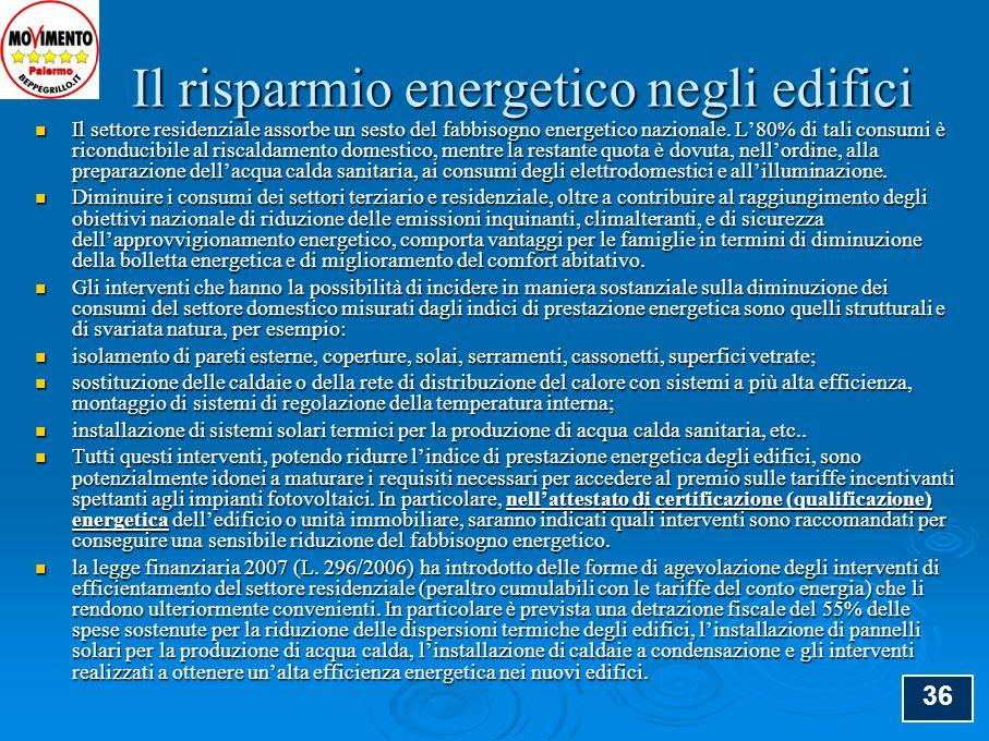 37 Esempi pratici di diffusione del fotovoltaico a Palermo Il fotovoltaico:tecnologie, sistemi e mercato