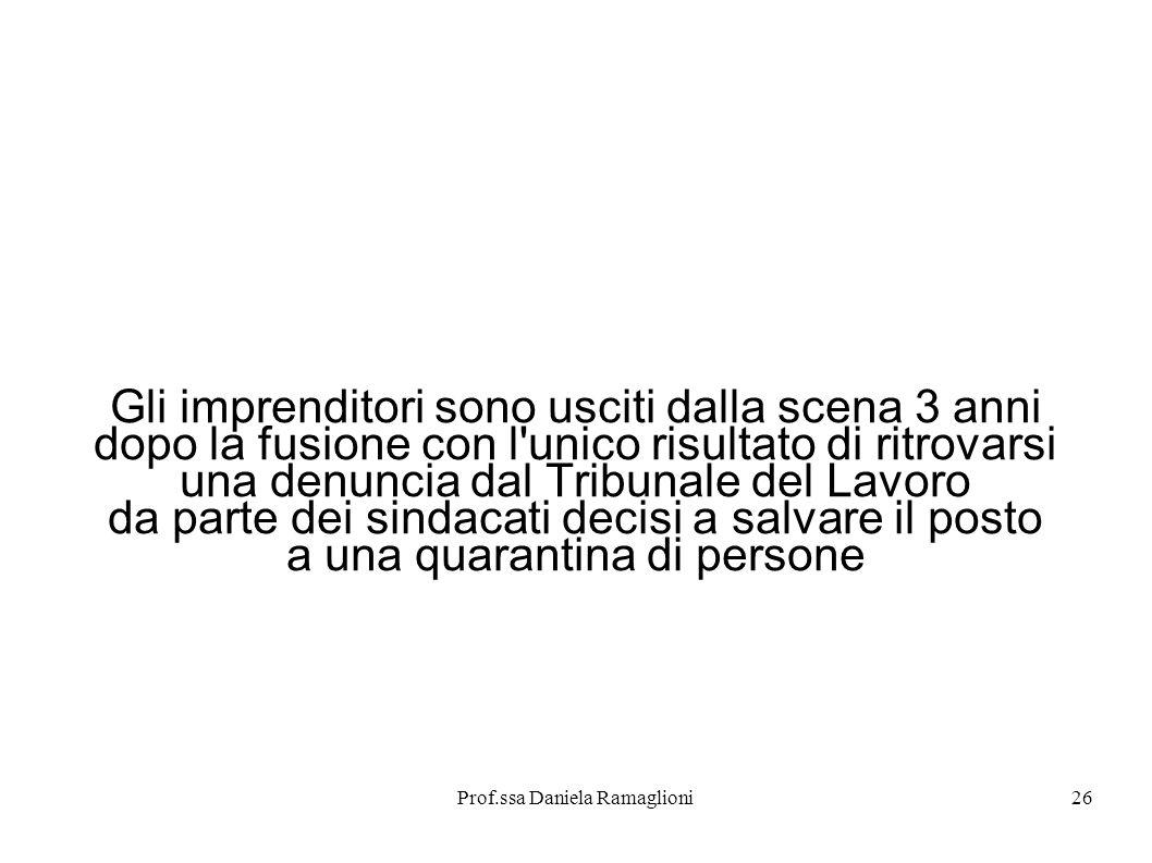 Prof.ssa Daniela Ramaglioni27 Luglio 2003.