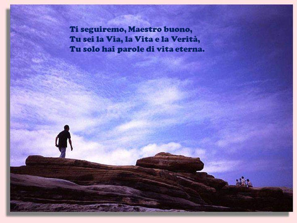Ti seguiremo, Maestro buono, Tu sei la Via, la Vita e la Verità, Tu solo hai parole di vita eterna.