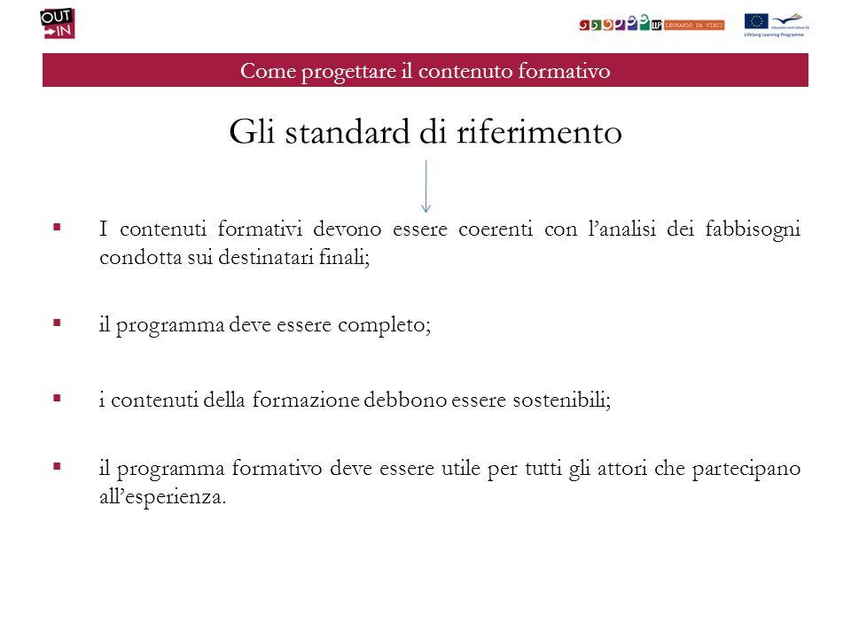 Come progettare il contenuto formativo Il programma formativo deve essere strutturato e erogabile, nel momento in cui i beneficiari si recano nel paese ospite.