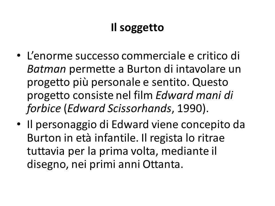 La produzione Allo scopo di tutelare la propria libertà espressiva il cineasta americano fonda una compagnia, la Tim Burton Productions, e finanzia Edward mani di forbice.