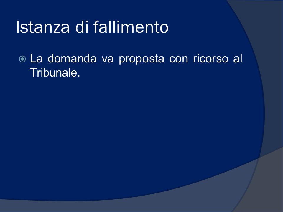 Legittimazione a richiedere il fallimento  Creditori (anche se il credito non è scaduto);  Debitore (attenzione art.