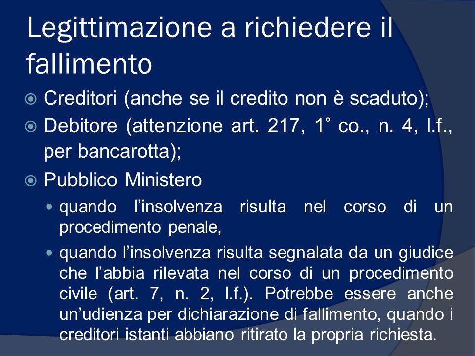 Competenza e giurisdizione  Competenza: tribunale del luogo in cui l'imprenditore ha la sede principale dell'impresa (art.