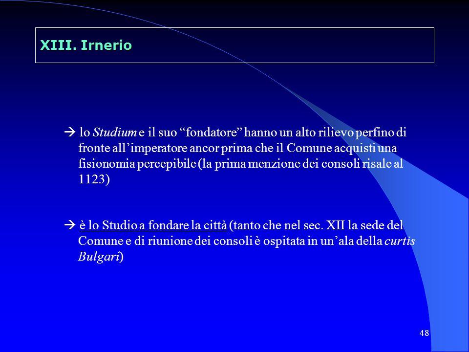 49 Irnerio e lo Studio bolognese