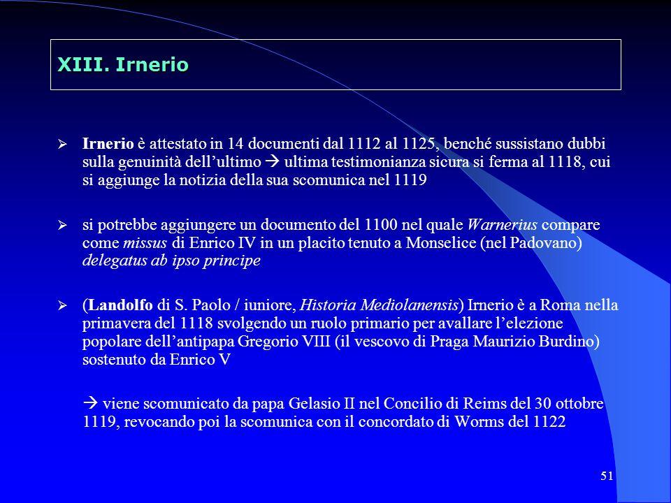 52 XIII.Irnerio (Roberto di Torigny / di Mont Saint-Michel, sec.