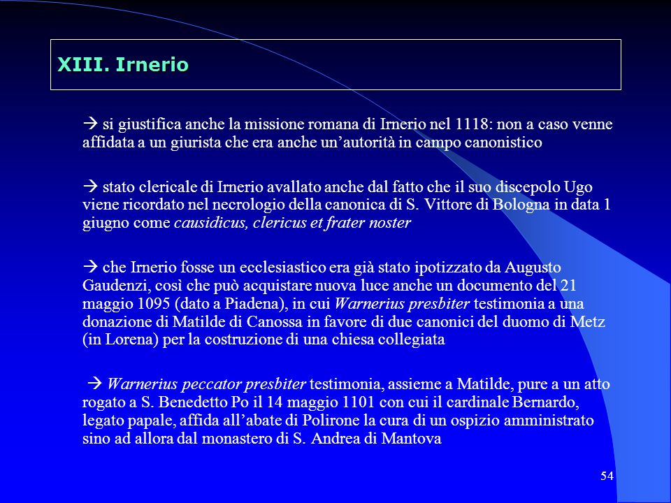 55 XIII.Irnerio nuove ricerche di G.
