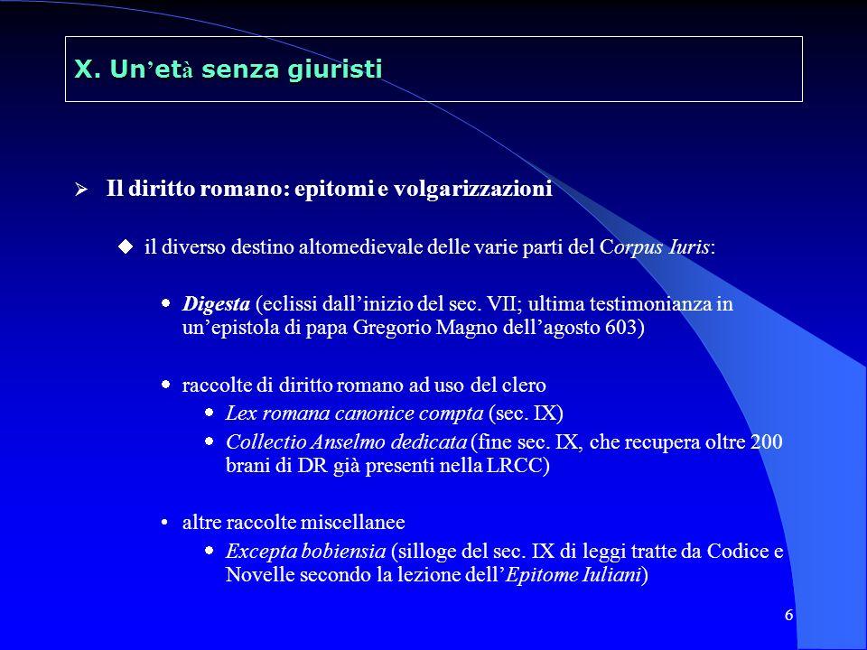 7 Riproduzione di una carta del ms. torinese delle Istituzioni (sec. X)