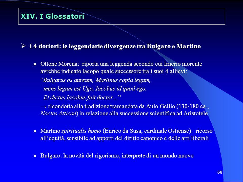 69 XIV.I Glossatori Vacario e i Tres Libri compone alla metà del sec.