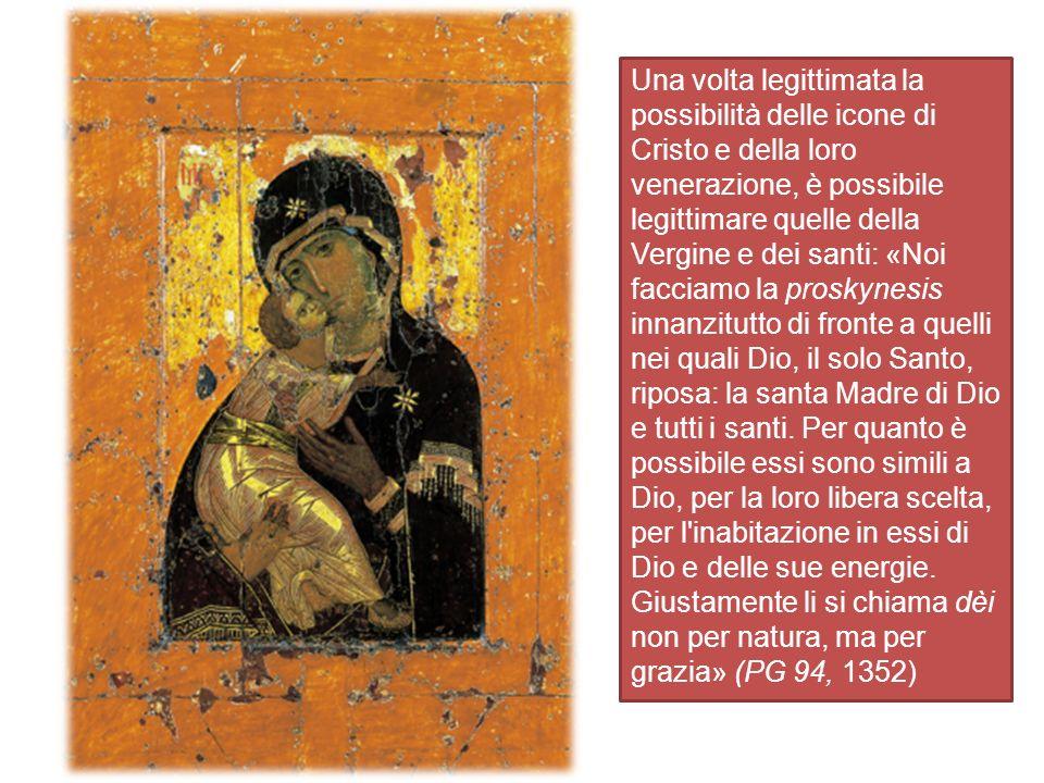 La prima caratteristica dell icona si può definire epifanica, giacché manifesta l invisibile agli occhi della carne.