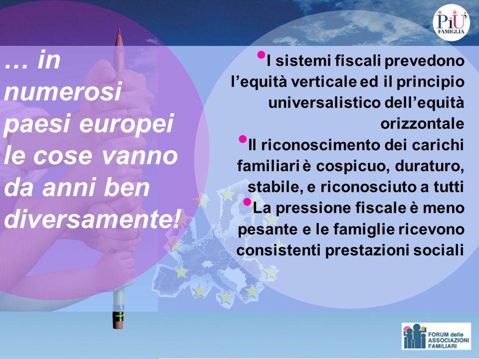 Reddito familiare di 30.000 Moglie e 2 figli a carico Detrazioni Fiscali … in Europa
