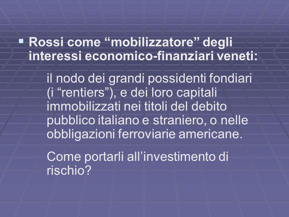 A.Rossi come promotore/animatore di società azionarie… 1868 - Alessandro Rossi & C.