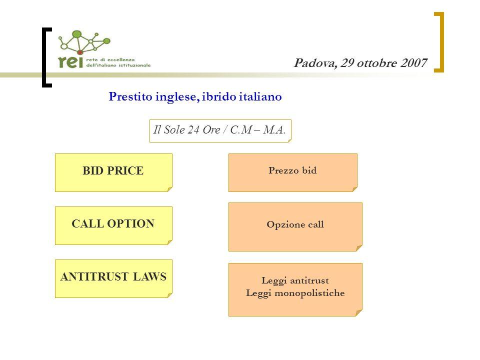 Padova, 29 ottobre 2007 MARKET CHALLENGER Buy and hold strategy Una resa traduttiva possibile.