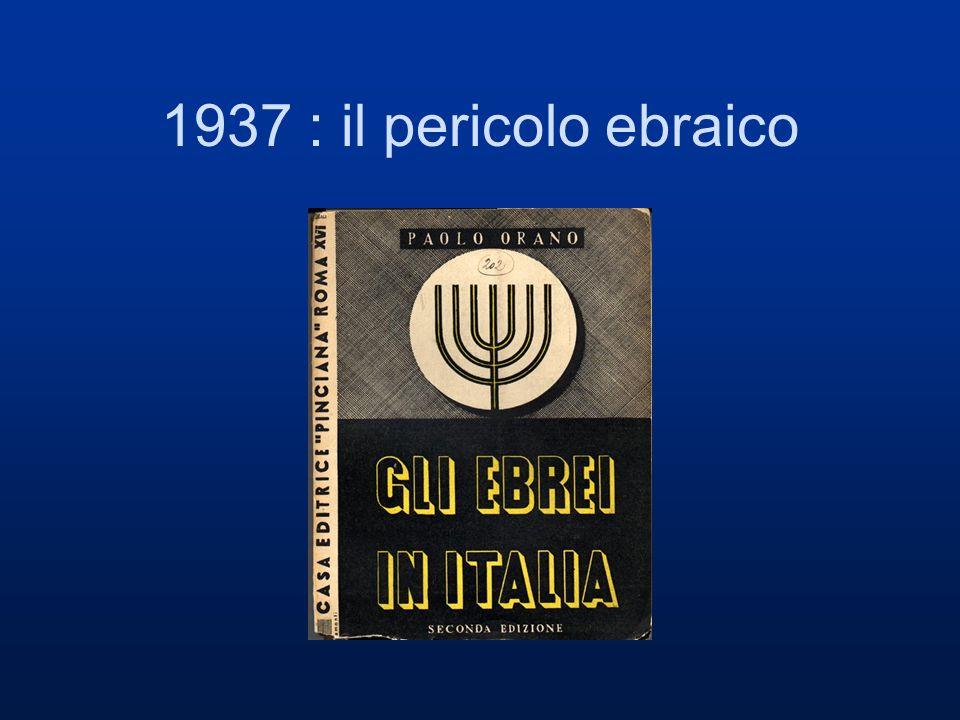1938 Ettore Ovazza ebreo e fascista prova a rispondere a Orano: anche gli ebrei sono fascisti e buoni cittadini.