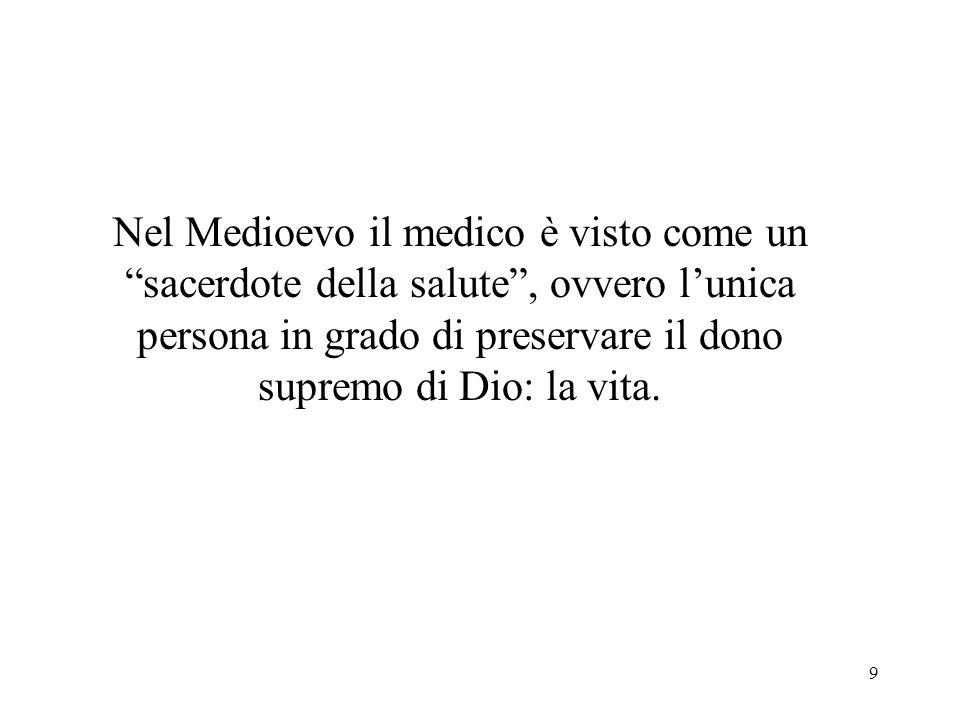 10 In questo contesto nasce il paternalismo medico, atteggiamento che annulla le facoltà decisionali del paziente, perché lunico in grado di agire per il suo bene è il medico.