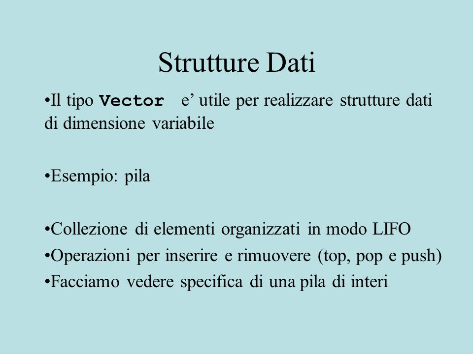 public class Stack { \\ OVERVIEW: uno Stack e una collezione di elementi (interi) organizzati per \\ordine di inserimento con una politica LIFO.