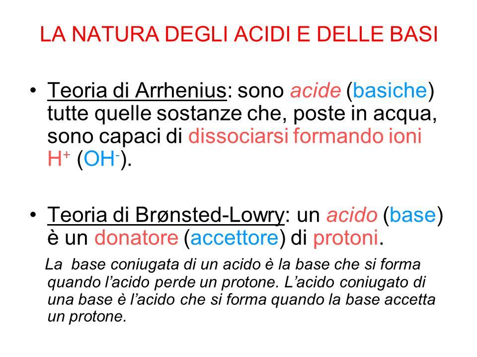 AcidoBase Acido Base Acido Esempio.Nelle seguenti reazioni, qual è lacido e quale la base.