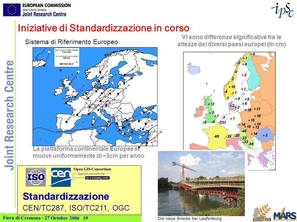 Fiera di Cremona - 27 October 2006 20 ma i soli standards non sono sufficienti...