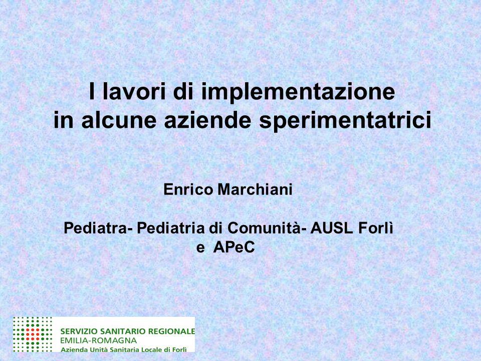 Gruppo multidisciplinare Ausl di Forlì Prof.ssa Paola DallacasaPediatra - Coordinatore del Gruppo Dott.