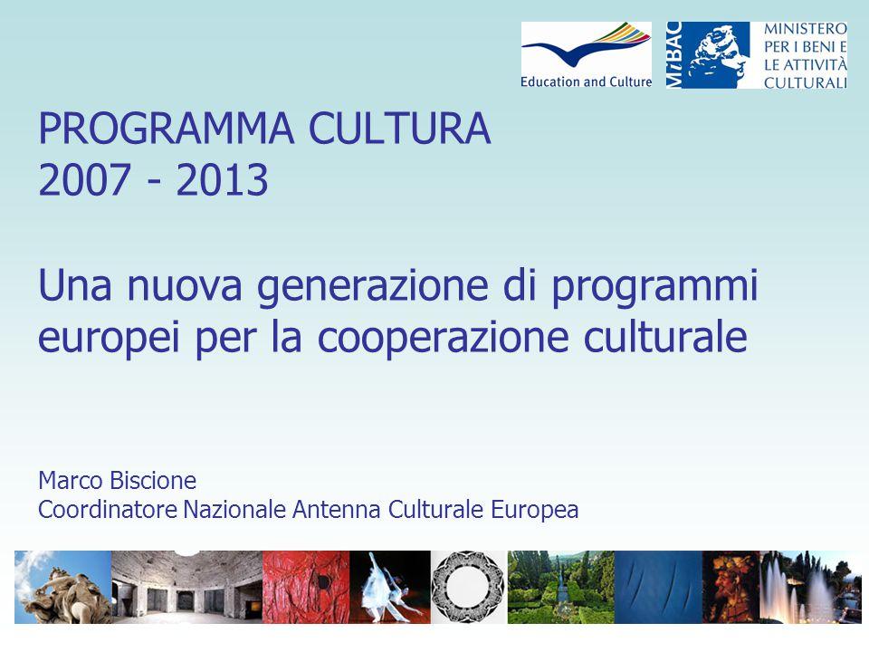 BASE LEGALE: Articolo 151 del Trattato d'Amsterdam (Obiettivi) Incoraggiare la cooperazione culturale tra gli Stati Membri Promuovere la diversità culturale nel rispetto del principio di sussidiarietà Promuovere il patrimonio culturale comune